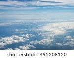 view from a plane window to... | Shutterstock . vector #495208120