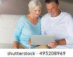 senior couple using laptop   Shutterstock . vector #495208969