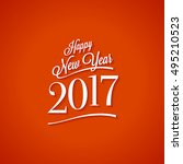 text design of happy new year... | Shutterstock .eps vector #495210523