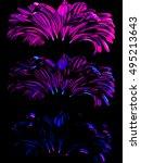 three flowers.   | Shutterstock .eps vector #495213643