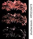 three flowers.   | Shutterstock .eps vector #495213673