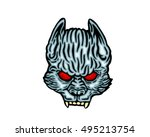 scary halloween mask costume  ... | Shutterstock .eps vector #495213754