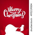 vector illustration  silhouette ... | Shutterstock .eps vector #495219004