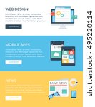 business concept web banners 2 | Shutterstock .eps vector #495220114