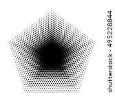 vector pentagon halftone...   Shutterstock .eps vector #495228844