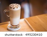 coffee caramel macchiato in...   Shutterstock . vector #495230410
