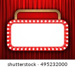 retro cinema banner with red... | Shutterstock . vector #495232000