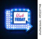 black friday sale retro light... | Shutterstock .eps vector #495237748