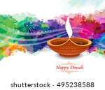 the vibrancies of the festival... | Shutterstock .eps vector #495238588