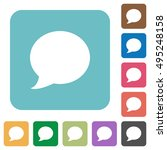 flat blog comment icons on... | Shutterstock .eps vector #495248158