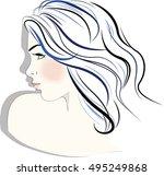 illustration of women short... | Shutterstock .eps vector #495249868
