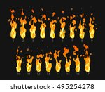 sprite sheet of fire  torch ...
