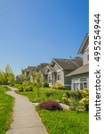 concrete pathway along the row...   Shutterstock . vector #495254944