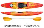 crossover kayak  whitewater and ... | Shutterstock . vector #495259978