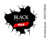 black friday banner with text ... | Shutterstock .eps vector #495270604