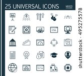 set of 25 universal icons on... | Shutterstock .eps vector #495275578