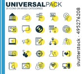 set of 25 universal icons on... | Shutterstock .eps vector #495276208