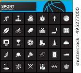 sport vector icons set  modern... | Shutterstock .eps vector #495277000
