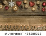 christmas background with... | Shutterstock . vector #495285313