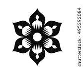 floral vector ornament for...   Shutterstock .eps vector #495292084