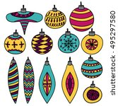 vector collection of sketched...   Shutterstock .eps vector #495297580