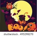 vector cartoon background...   Shutterstock .eps vector #495298270