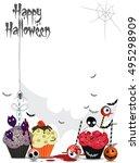 halloween candy illustration.... | Shutterstock .eps vector #495298909