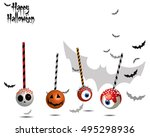 halloween candy illustration.... | Shutterstock .eps vector #495298936