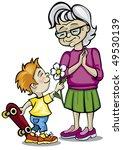 grandmother and grandchild | Shutterstock .eps vector #49530139