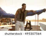 Handsome Man On A Sailing Boat...