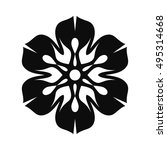 floral vector ornament for... | Shutterstock .eps vector #495314668