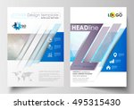business templates for brochure ... | Shutterstock .eps vector #495315430