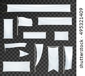 outdoor advertising banners ... | Shutterstock .eps vector #495321409