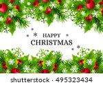 christmas banners with fir... | Shutterstock .eps vector #495323434