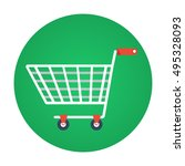 trolley flat vector icon that... | Shutterstock .eps vector #495328093