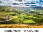 scenic serpentine road in peak... | Shutterstock . vector #495329680