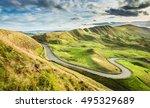 empty serpentine road among...   Shutterstock . vector #495329689