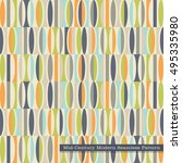 seamless retro pattern in mid... | Shutterstock .eps vector #495335980