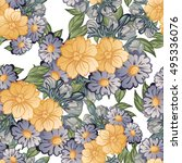 abstract elegance seamless... | Shutterstock . vector #495336076