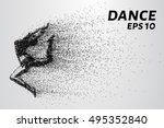 dance of the particles. girl... | Shutterstock .eps vector #495352840