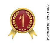 first place icon golden number... | Shutterstock .eps vector #495354010