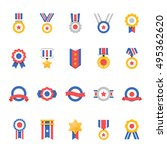 badge awards vector color icons ... | Shutterstock .eps vector #495362620