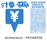 yen map pointer icon with 1000... | Shutterstock .eps vector #495368938