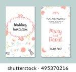 wedding set. romantic vector... | Shutterstock .eps vector #495370216