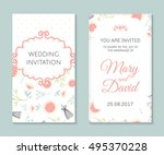 wedding set. romantic vector... | Shutterstock .eps vector #495370228