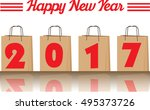 2017 annual year vector. happy... | Shutterstock .eps vector #495373726