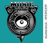 Musical Records Store Emblem