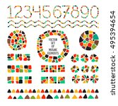 bright mosaic texture. vector... | Shutterstock .eps vector #495394654