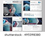social media posts set.... | Shutterstock .eps vector #495398380