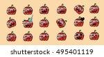 pumpkin icon element set for... | Shutterstock .eps vector #495401119